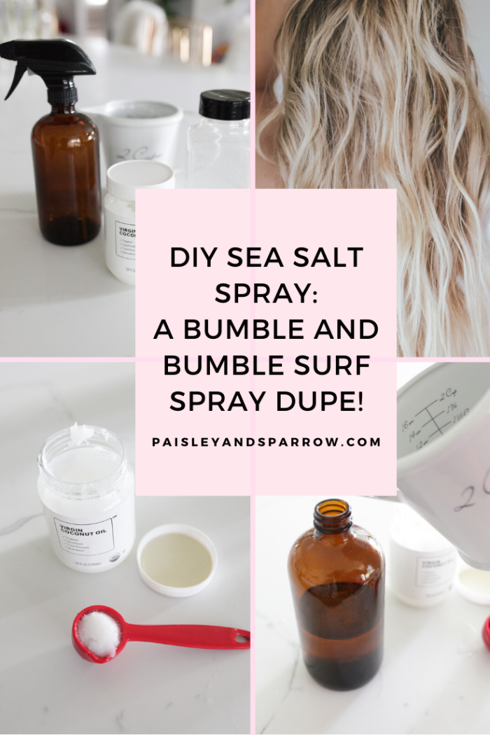 The Easiest DIY Sea Salt Spray for Beachy Waves