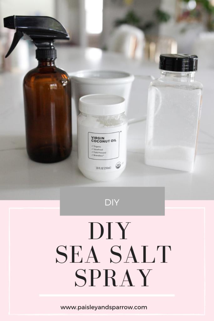 The Easiest DIY Sea Salt Spray for Beachy Waves