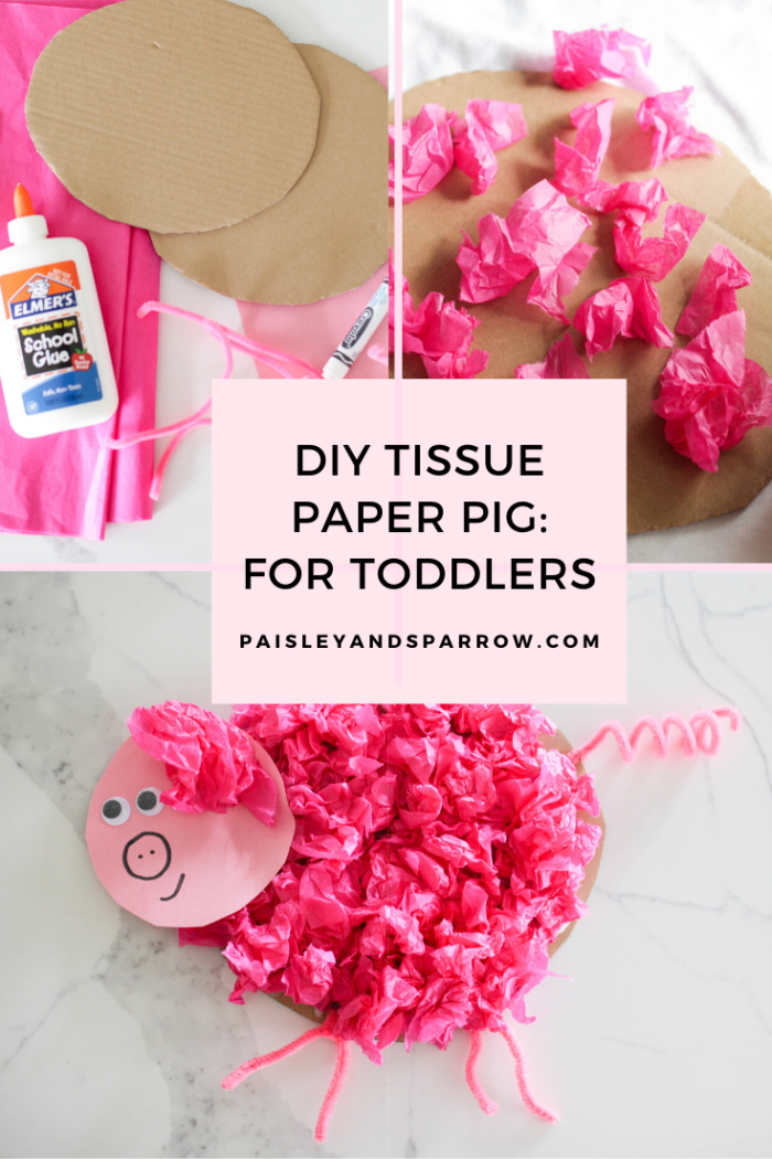 Simple DIY Tissue Paper Pig Craft for Toddlers
