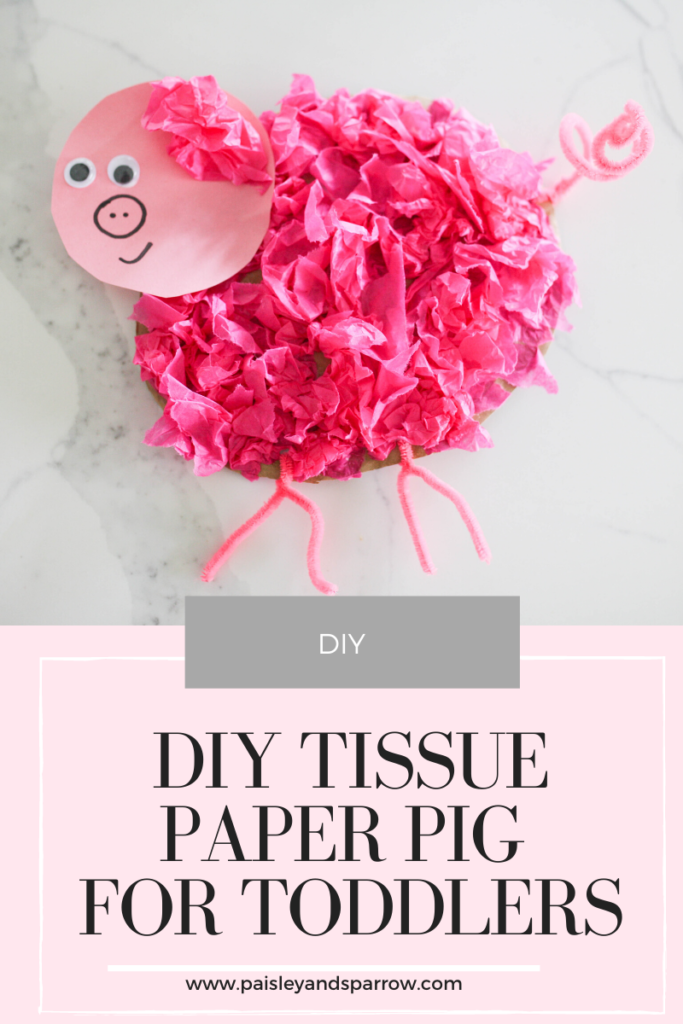 Simple DIY Pig Tissue Paper Craft for Toddlers