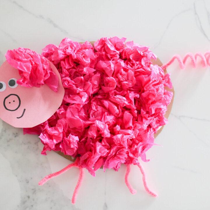Pig Tissue Paper Craft