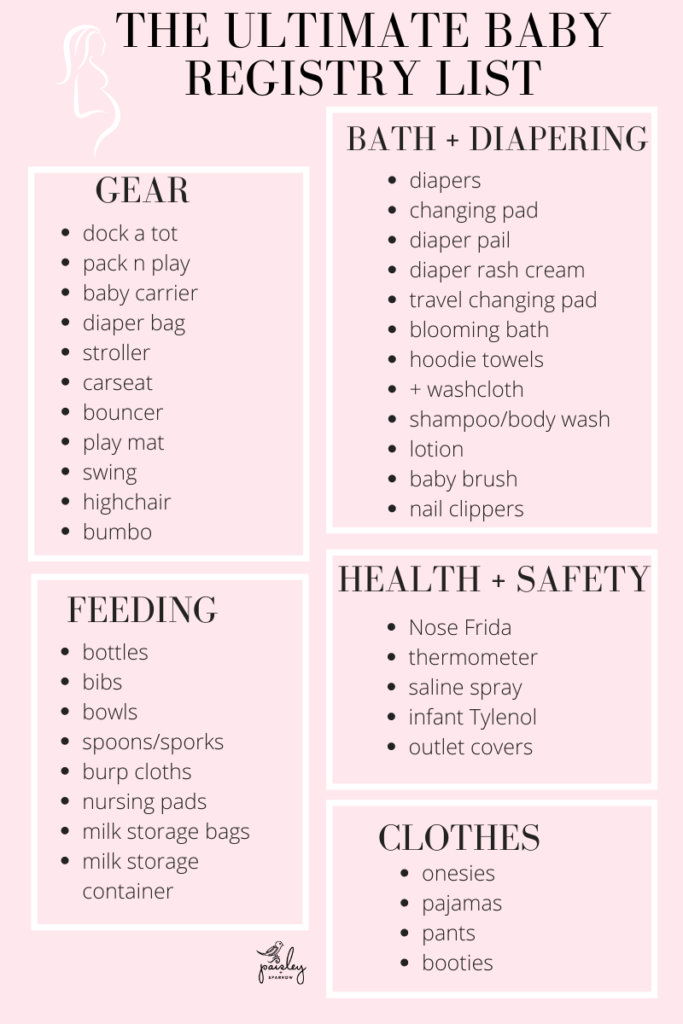 Baby Registry Checklist (with Free Printable) from a Mom of 3!