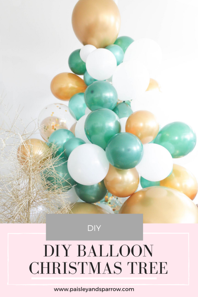 DIY Balloon Garland Christmas Tree