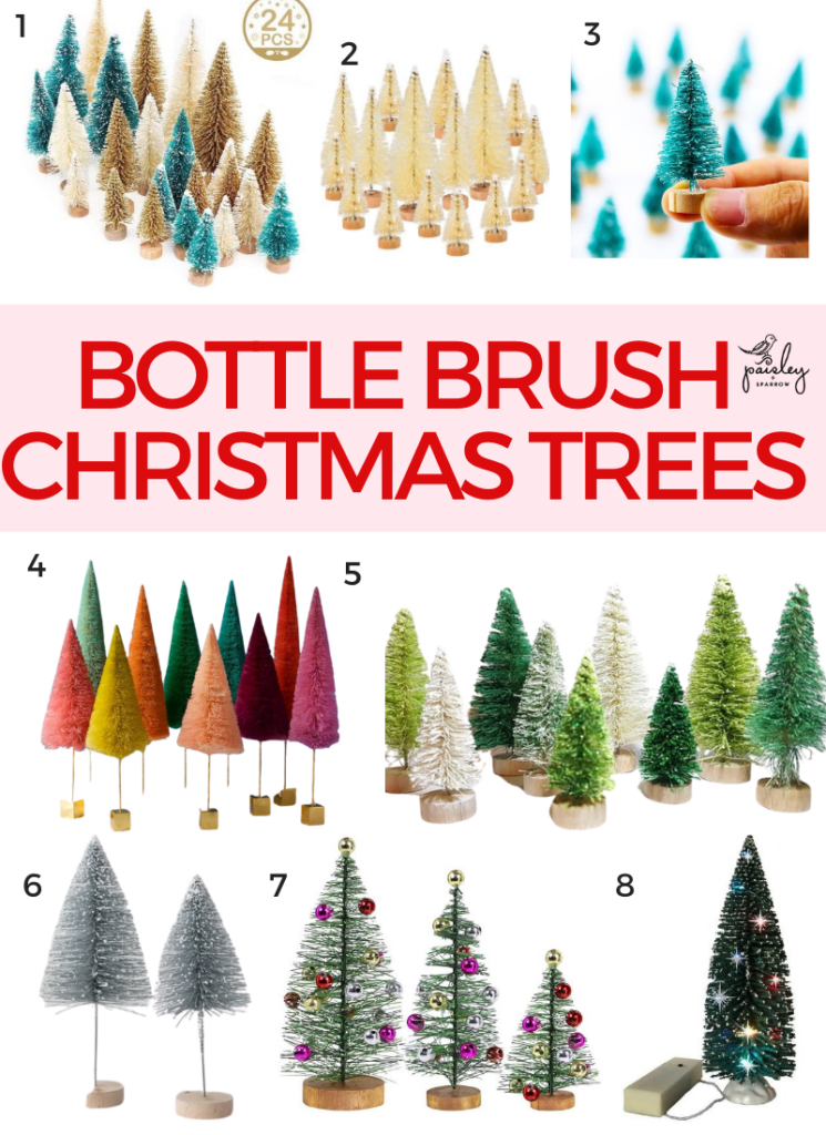 8 Places to Buy Bottle Brush Christmas Trees