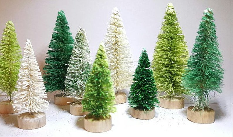 9 Piece Mixed Green Trees