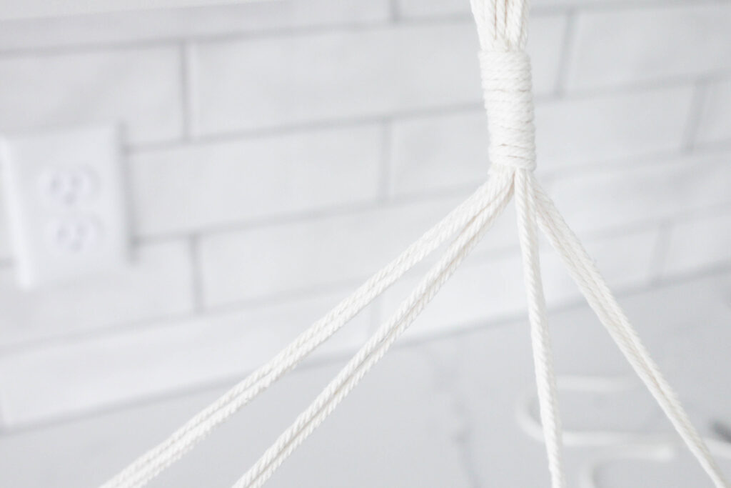 How to Make The Easiest DIY Macrame Plant Hanger Ever (+ Video Tutorial)