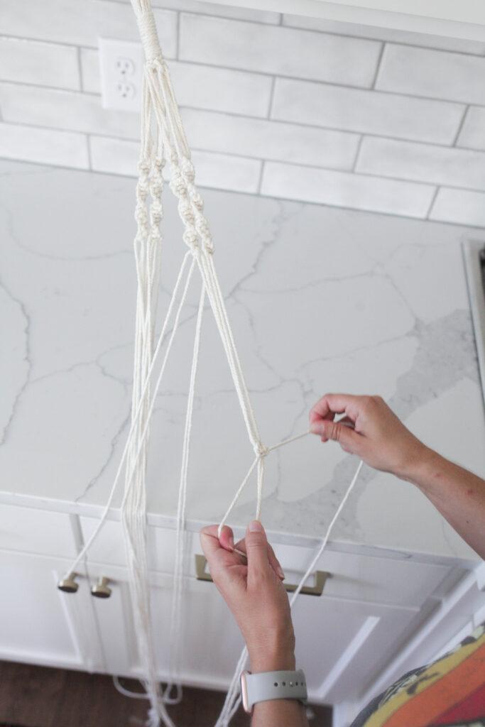 Creating a macrame plant hanger