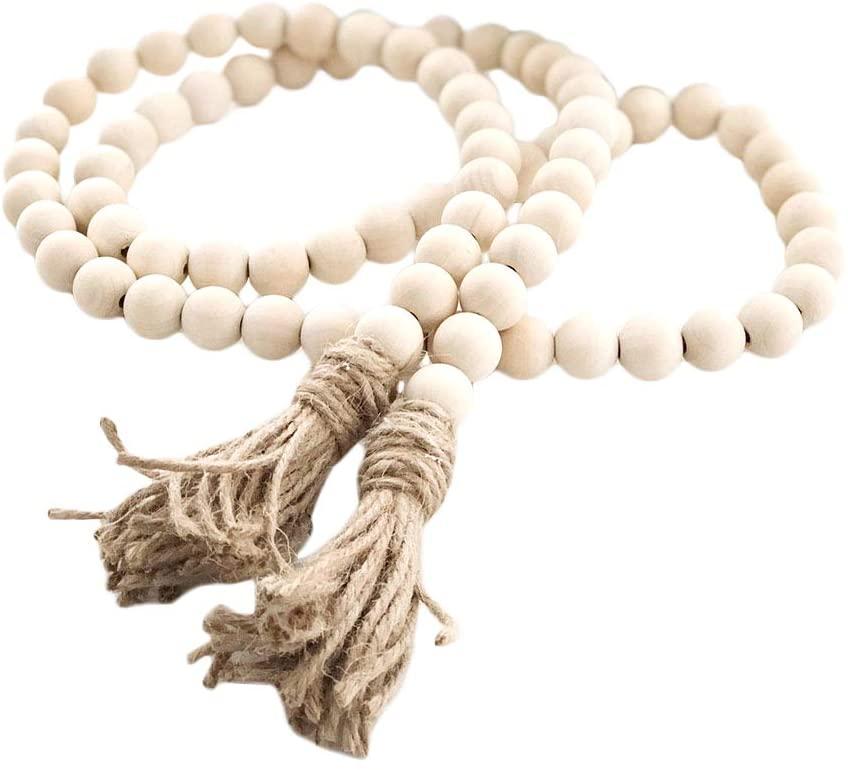 Wood Bead garland - a beautiful fall decor item