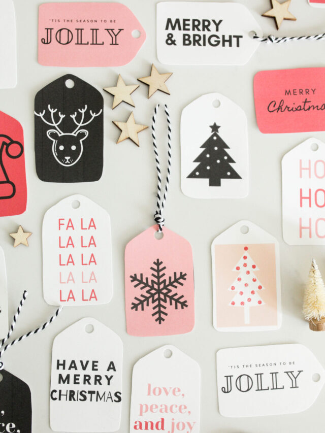 Gift Wrapping Ideas + Free Gift Tags