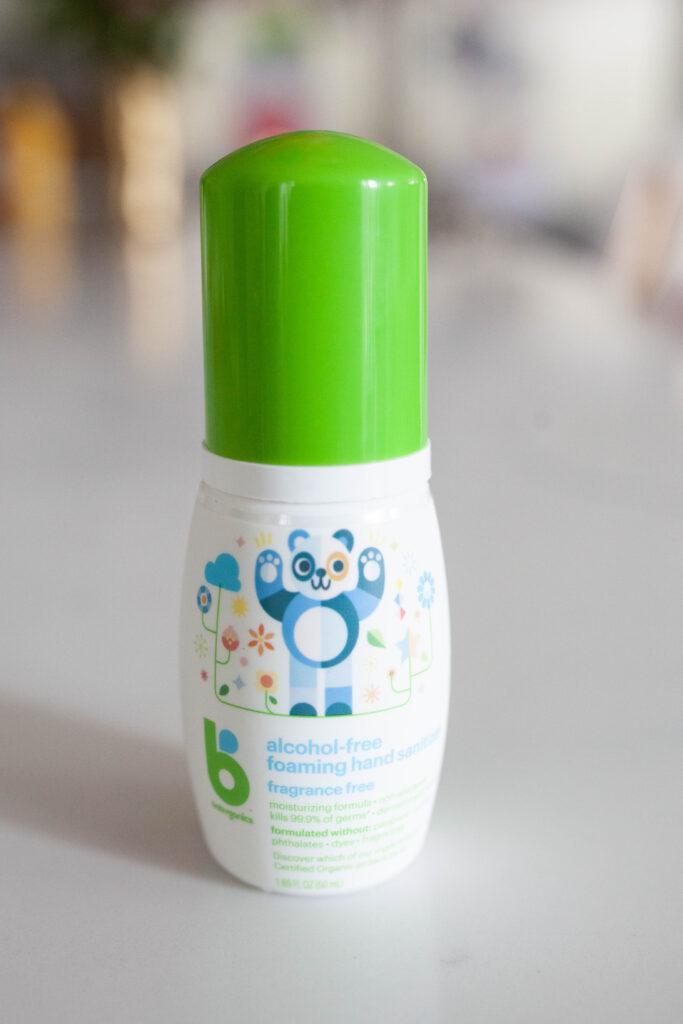 don't forget hand sanitizer! diaper bag essentials
