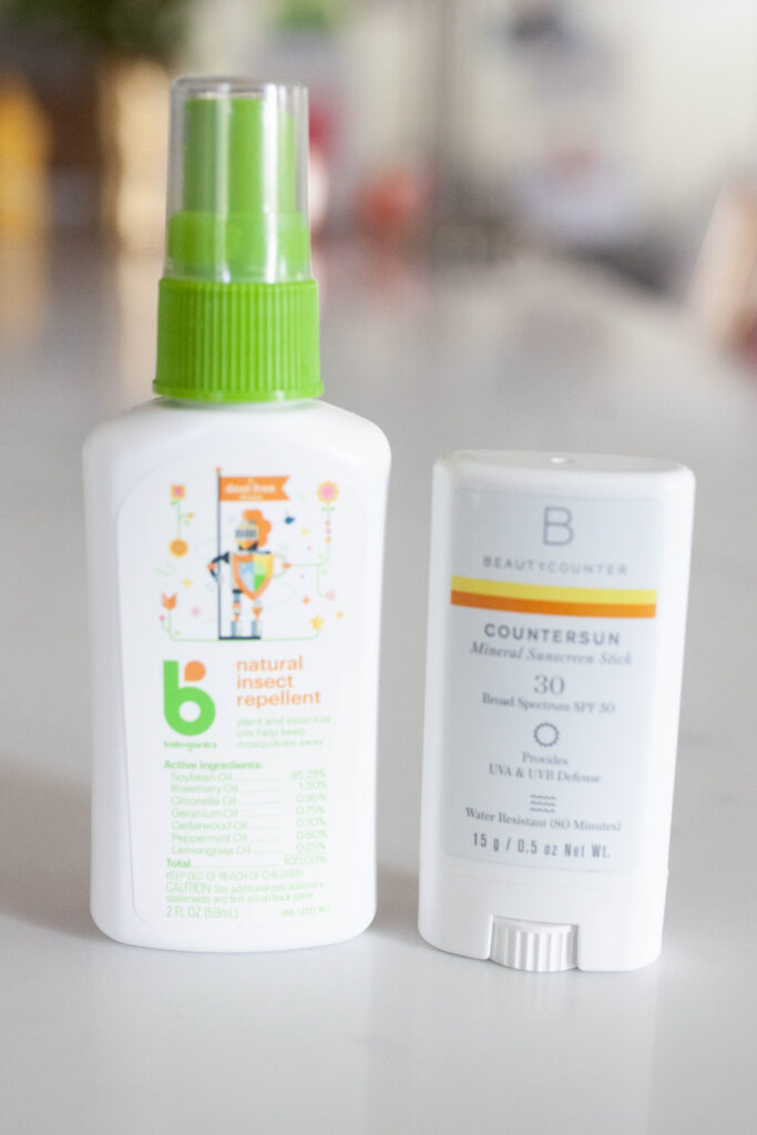 grab sunscreen and bug spray for your diaper bag