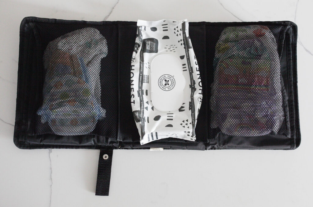 Diapers + wipes are diaper bag essentials