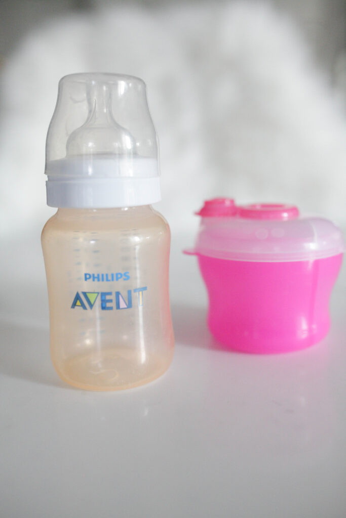 don't forget to put a bottle and formula in your diaper bag!
