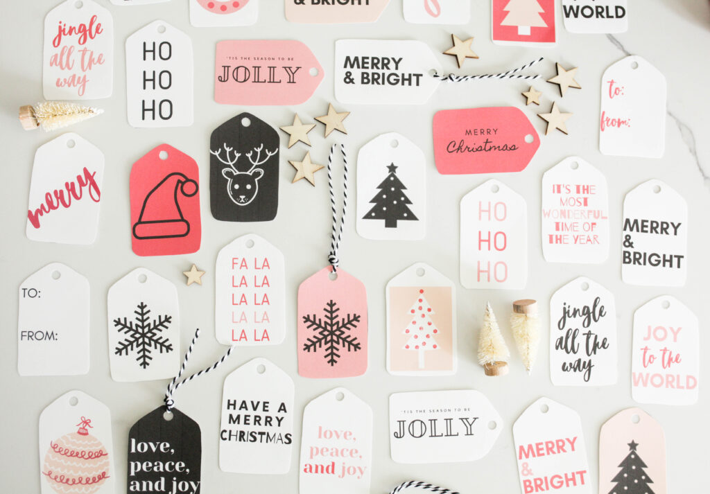 Modern gift tags