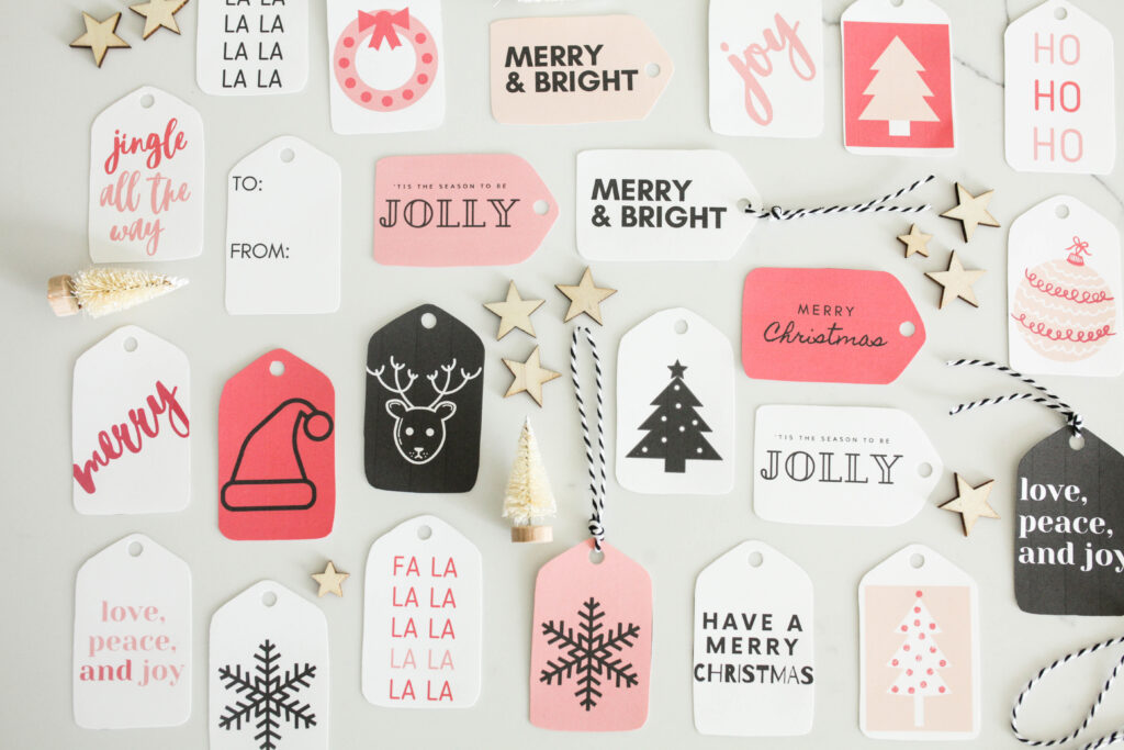 64 Free Printable Christmas Gift Tags + Simple Wrapping Ideas
