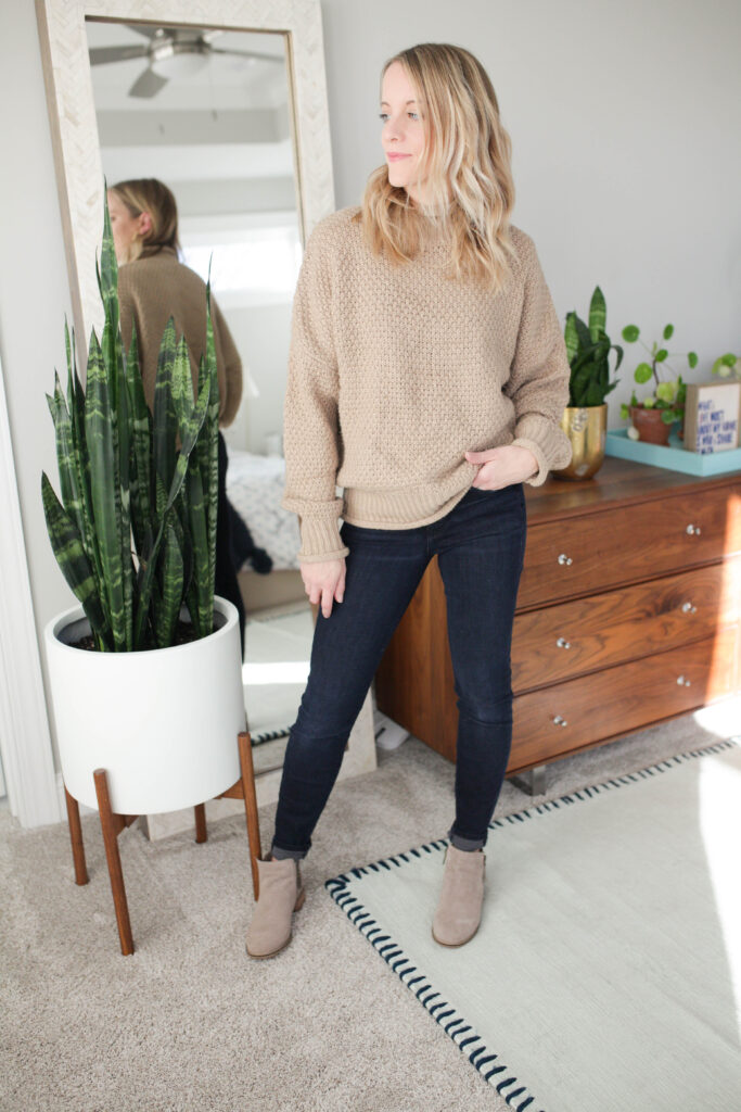 What to wear an oversized sweater with