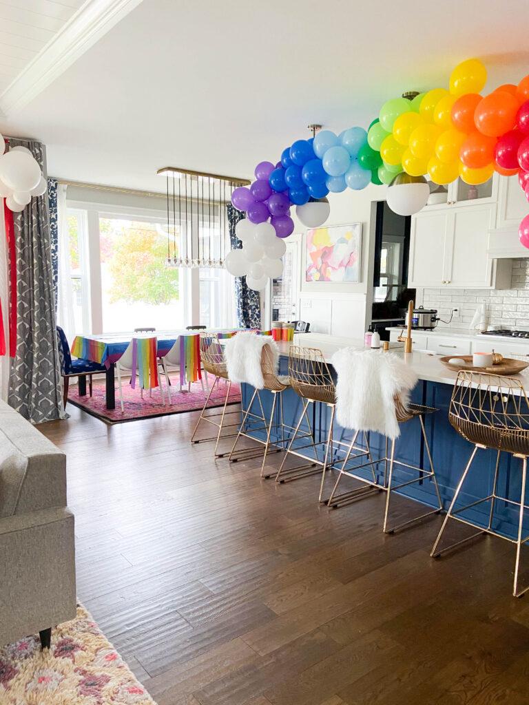 How to Make a Rainbow Balloon Garland