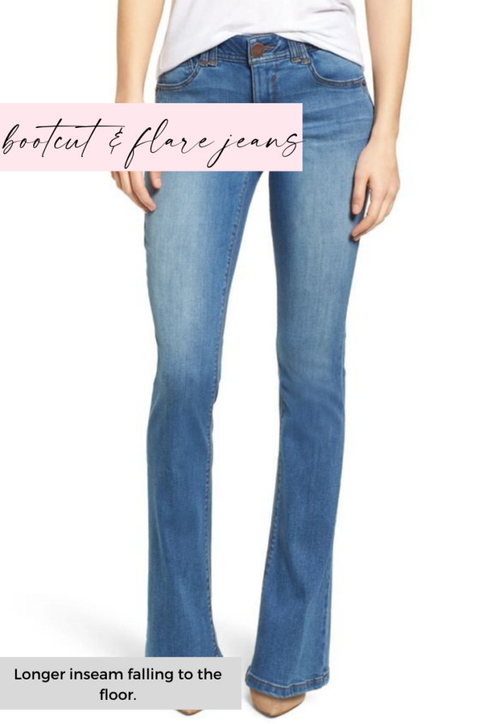 bootcut and flare jean inseam length
