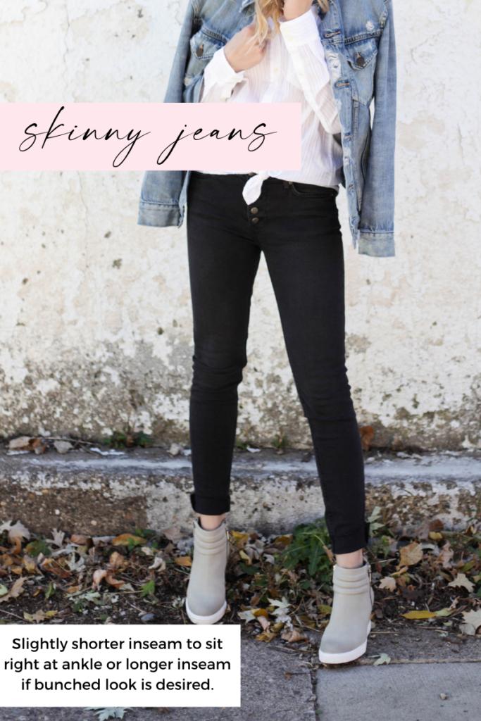 skinny jean inseam