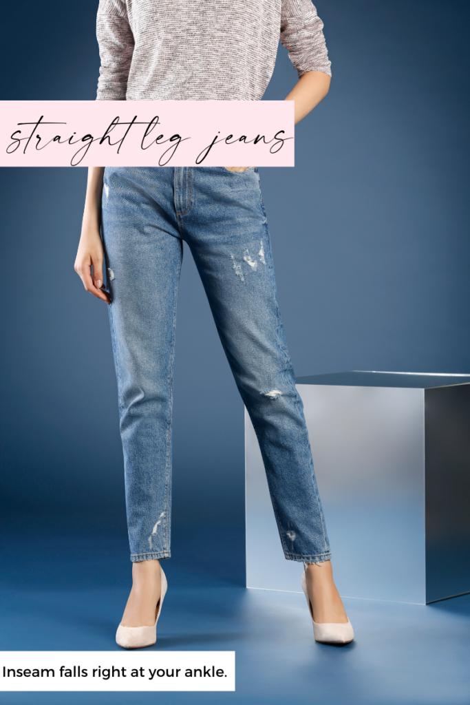 straight leg jean inseam length