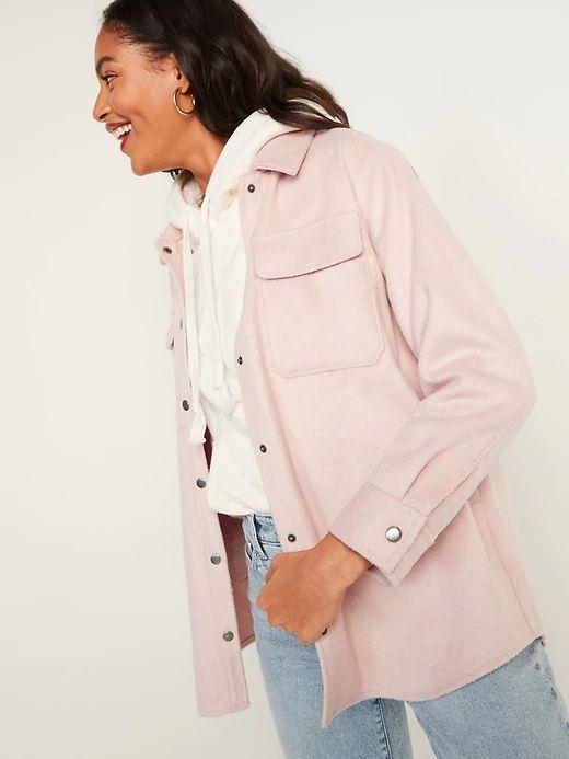 4. Soft Brushed Utility Shirt Jacket