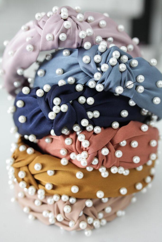 6 Pearl Headbands