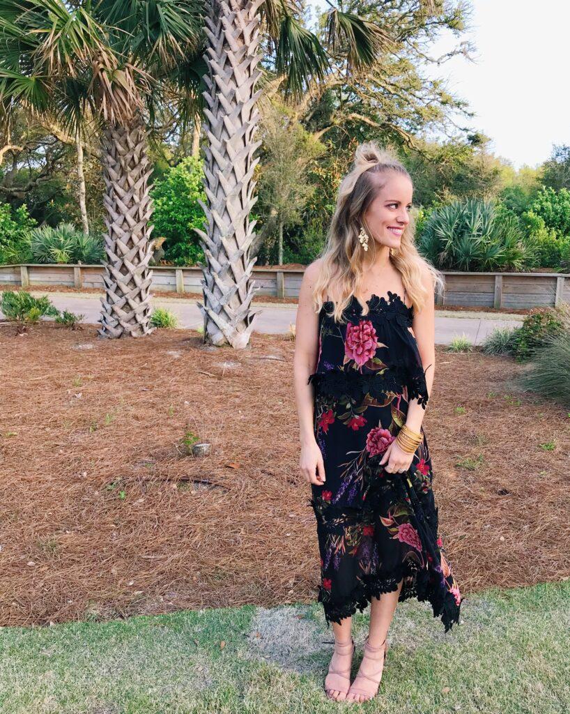 Formal midi dress for a wedding