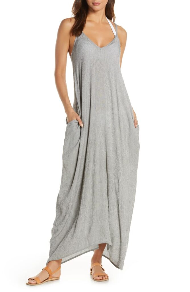 V-back Maxi Dress Cover-Up