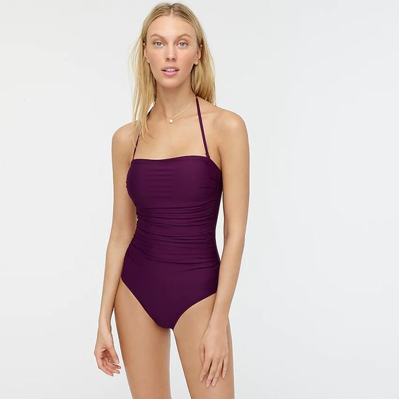 Ruched Bandeau One-Piece - J.Crew