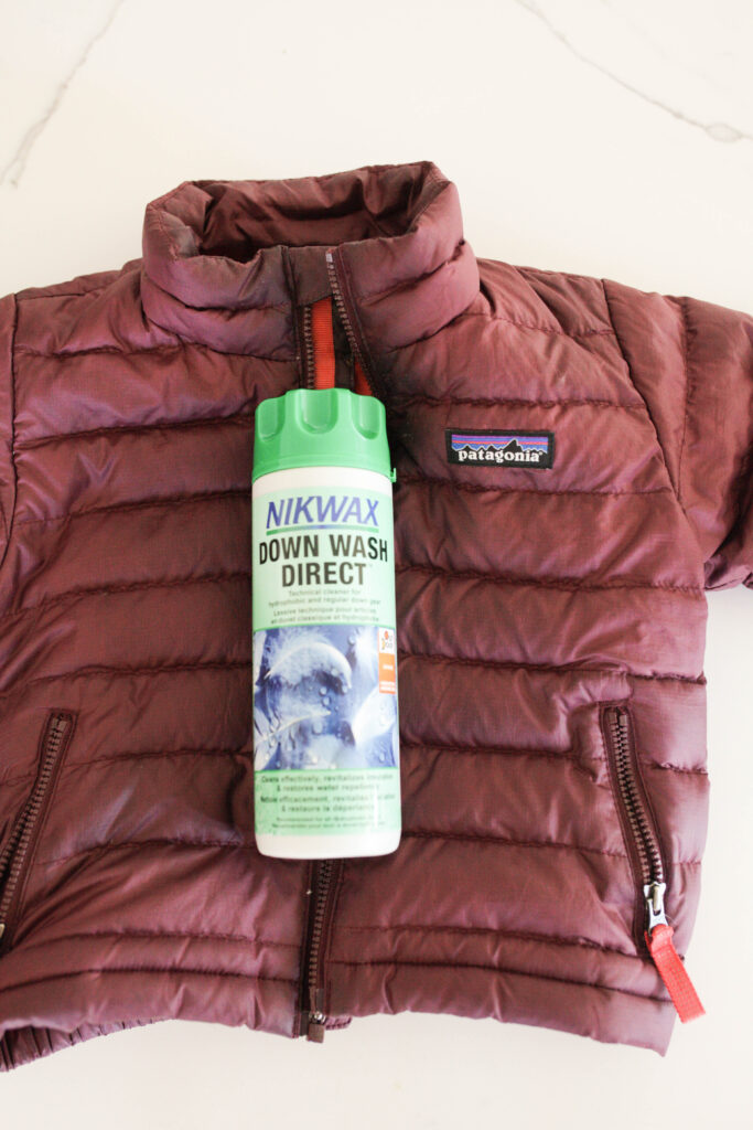 What you need to wash your down jacket