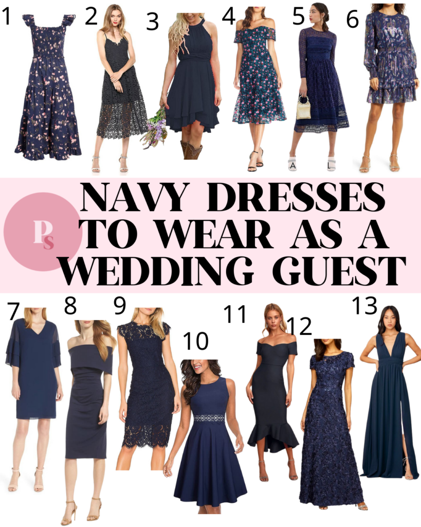 Navy Dresses for Wedding Guests