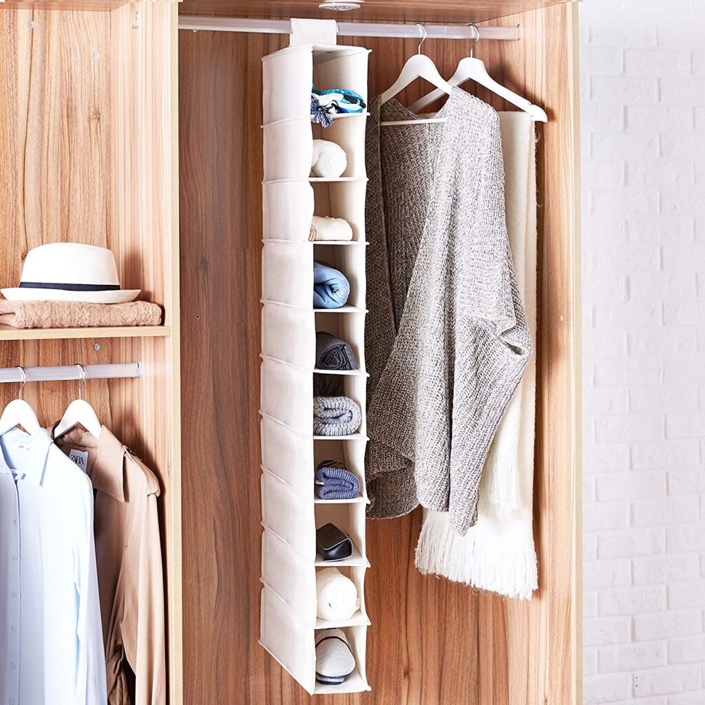 hanging closet shelf