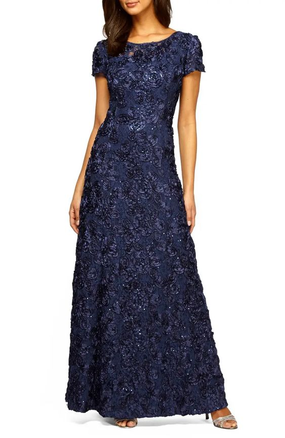 A-Line Sequin Gown