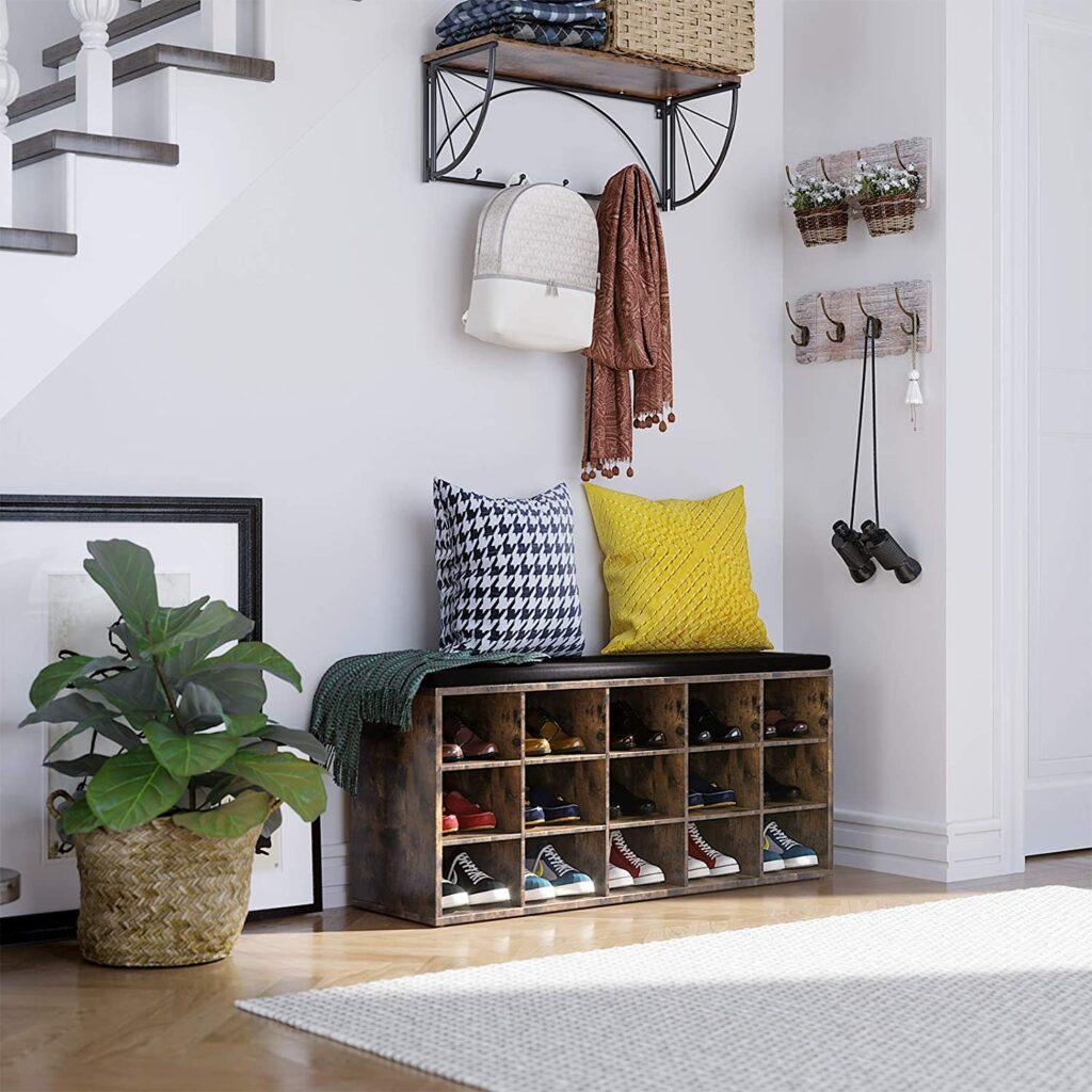 cushioned shoe bench