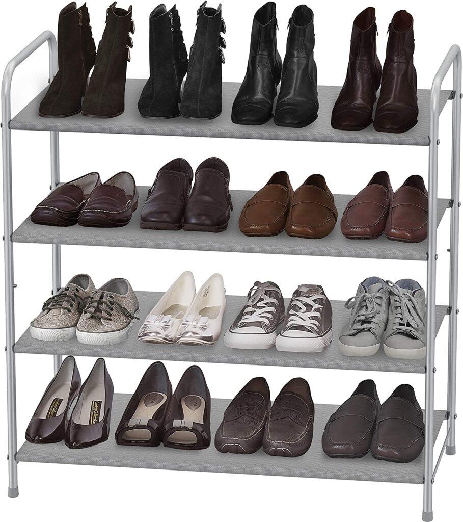 tiered shoe rack