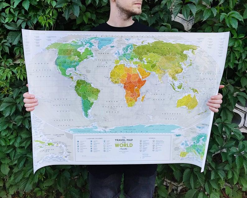 scratable map