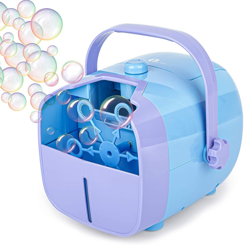 1 BY ONE Bubble Machine, Automatic Bubble Blower