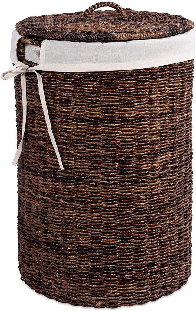 BIRDROCK HOME Abaca Laundry Hamper with Liner