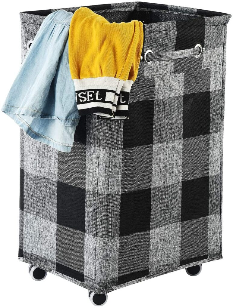 Haundry 86L X-Large Collapsible Laundry Hamper with Wheels