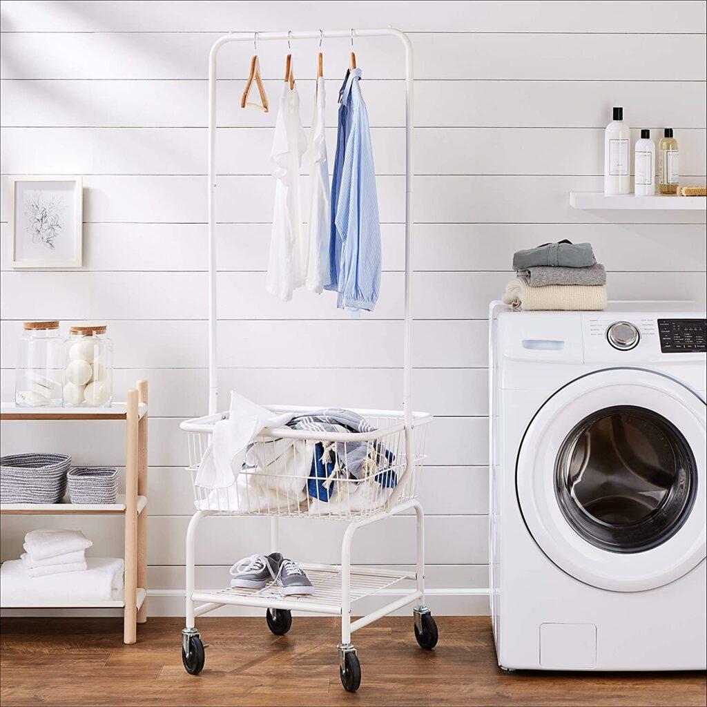 Amazon Basics Laundry Hamper Basket Butler Cart