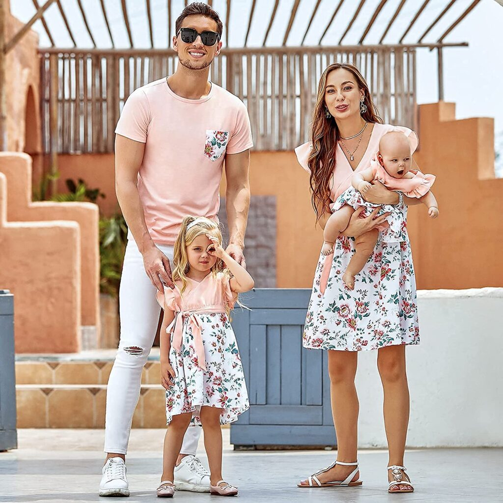 Matching floral family outfit from Amazon