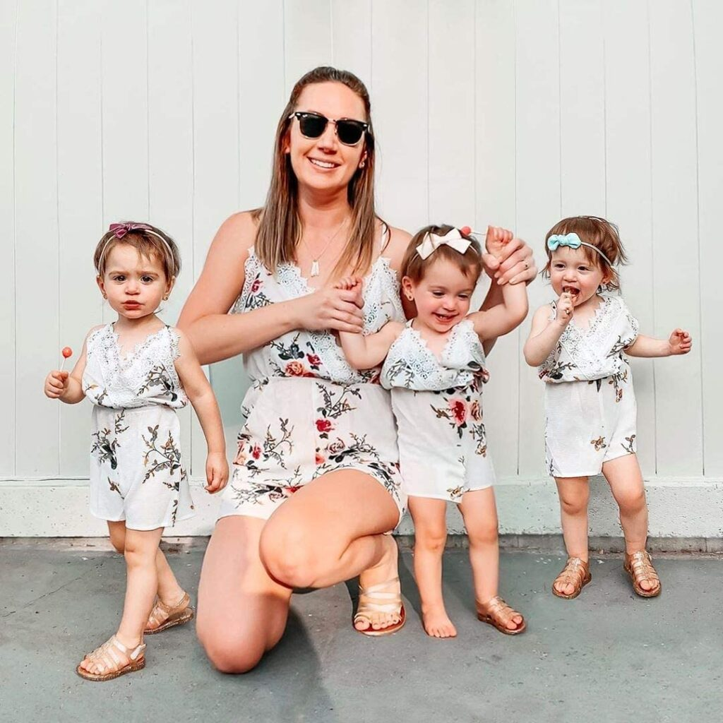 Mommy-and-me floral romper from Amazon