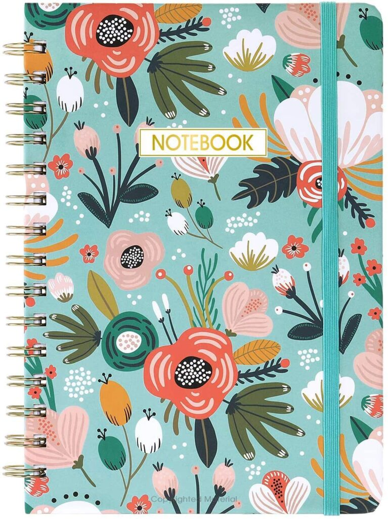 Floral notebook to use for brain dump
