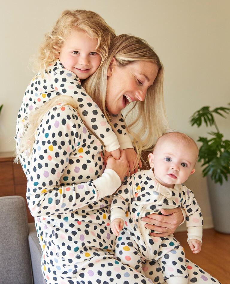 Matching polka dot pajamas from Hanna Andersson