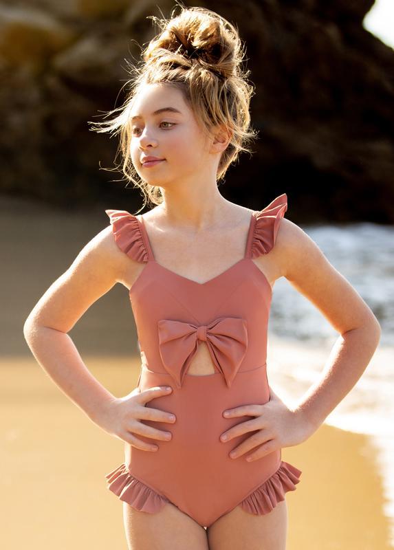 Joy Fille ruffled swimsuit for girls