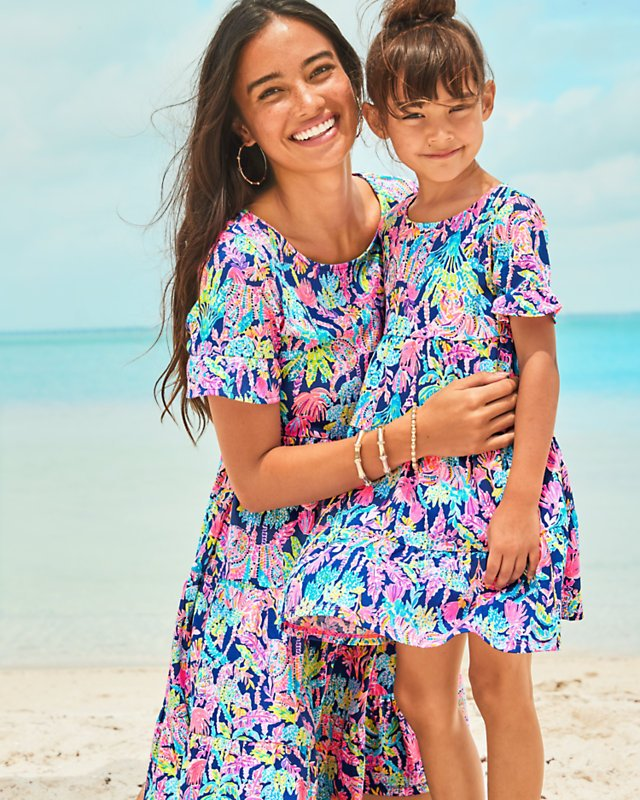 Lilly Pulitzer matching mommy-and-me dresses