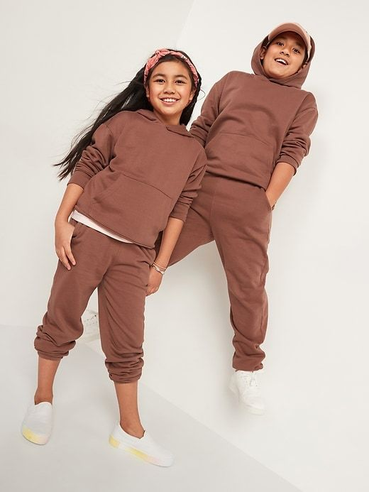 Solid kids sweatpants and sweatshirt from Old Navy