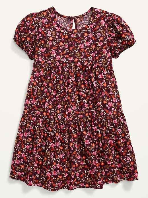 Floral dress from Old Navy that matches the woman's dress for mommy-and-me outfits