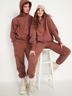 Solid adult sweatpants and hoodie from Old Navy