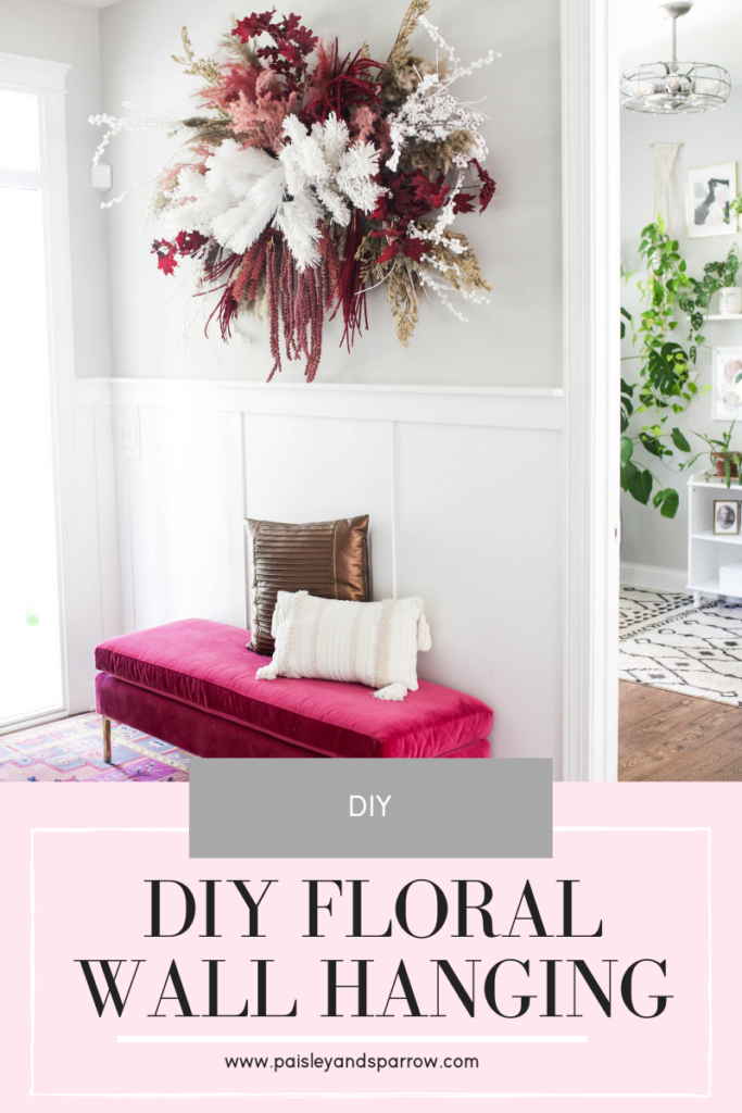 How to DIY a floral wall hanging